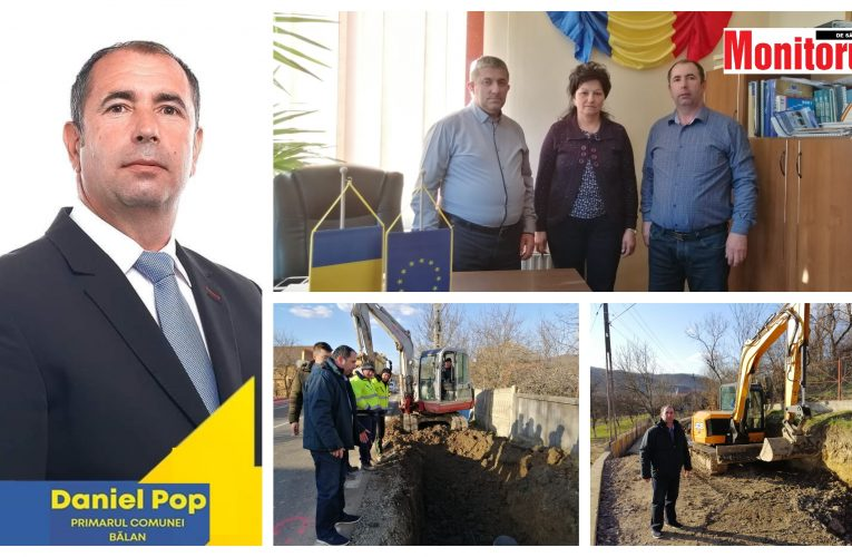Noul primar Daniel Pop și echipa lui, continuă modernizarea și dezvoltarea comunei Bălan