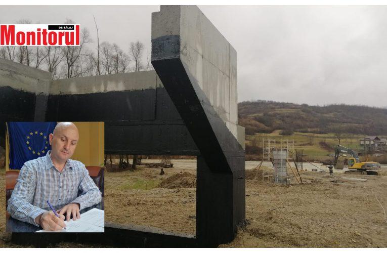 Surduc: Podul de la Turbuța peste râul Someș este realizat în proporție de 20% și va fi gata la toamnă