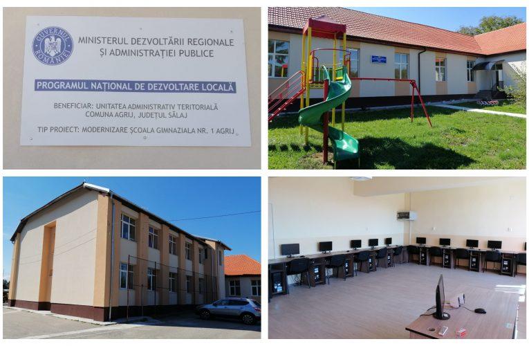 FOTO Primăria Comunei Agrij a finalizat de reabilitat şi modernizat Școala Gimnazială Agrij